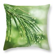 Early Spring Woodland Throw Pillow