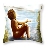 Early Summer In Bavaria Throw Pillow