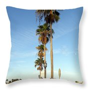 Early Sunday Morning In Daytona Beach  Throw Pillow