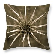 Early Thistle Throw Pillow