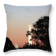 Early Washington Mornings - Cpl Block - For Liberty Throw Pillow