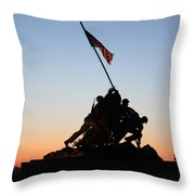 Early Washington Mornings - Iwo Jima Memorial Throw Pillow