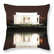 Early Washington Mornings - Lincoln Reflecting Throw Pillow