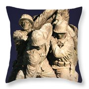 Early Washington Mornings - Team Iwo Jima Throw Pillow