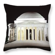 Early Washington Mornings - The Jefferson Memorial Throw Pillow