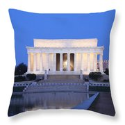 Early Washington Mornings - The Lincoln Memorial Throw Pillow
