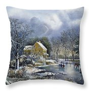 Early Winter, 1869 Throw Pillow