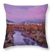 Early Winter Sunset Throw Pillow
