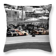 Earnhardt And Martin In The Pits Throw Pillow