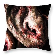 Ears And Meat Hooks  Throw Pillow