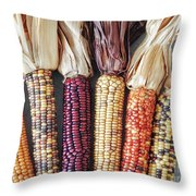 Ears Of Indian Corn Throw Pillow
