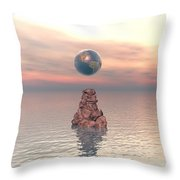 Earth Above The Sea Throw Pillow