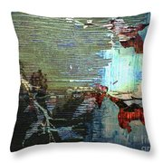 Earth Abstract Throw Pillow