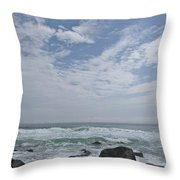 Earth And Sea And Sky In April Throw Pillow