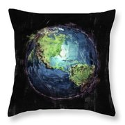 Earth And Space Throw Pillow