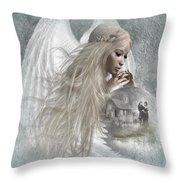 Earth Angel Throw Pillow