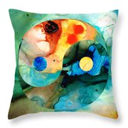 Earth Balance - Yin And Yang Art Throw Pillow