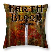 Earth Blood Cover Art Throw Pillow