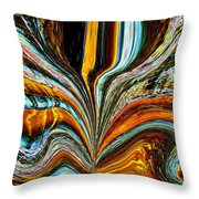 Earth Bloom Throw Pillow