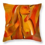 Earth-coloured Throw Pillow
