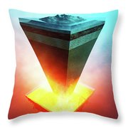 Earth Core Structure Cross-section Throw Pillow