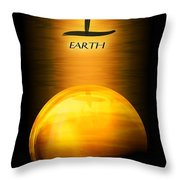 Earth Elemental Sphere Throw Pillow