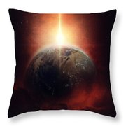 Earth Emerges Throw Pillow