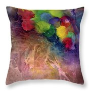 Earth Emerging Throw Pillow