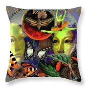 Earth Energy Meridan Throw Pillow