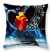 Earth Heart Throw Pillow
