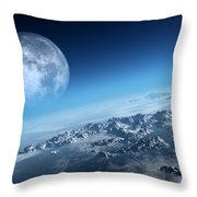 Earth Icy Ocean Aerial View Throw Pillow