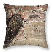 Earth Laughs In Flower Wall Throw Pillow