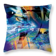 Earth Lights Throw Pillow