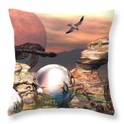 Earth Pearls Throw Pillow