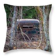 Earth Reclaims A Truck Throw Pillow