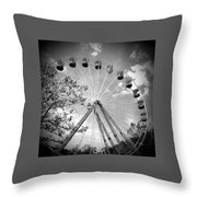 Earth Speed Throw Pillow