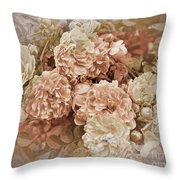 Earth Toned Roses Throw Pillow