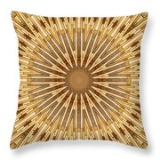 Earth Tones - Mandala Throw Pillow