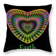 Earth Throw Pillow by Visual Artist Frank Bonilla