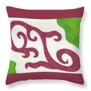 Earths Floral Waves  Throw Pillow