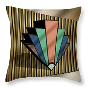 Earth Tones Chevron 3 D Throw Pillow