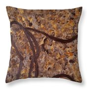 Earthy Silhouette Throw Pillow