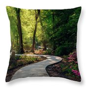 Earyl Morning Walk Through Honor Heights Park Throw Pillow
