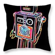 Easel Back Robot Throw Pillow