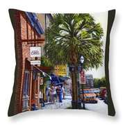 East Bay St. Charleston Sc Throw Pillow