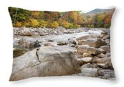 East Branch Of The Pemigewasset River - White Mountains New Hampshire Usa Throw Pillow