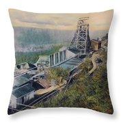 East Brookside Mine Shaft Throw Pillow