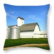 East Central Illinois Farm Buildings By Earl's Photography Throw Pillow