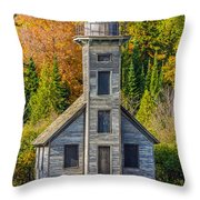 East Channel Lighthouse Throw Pillow