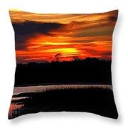East Coast Sunset Throw Pillow